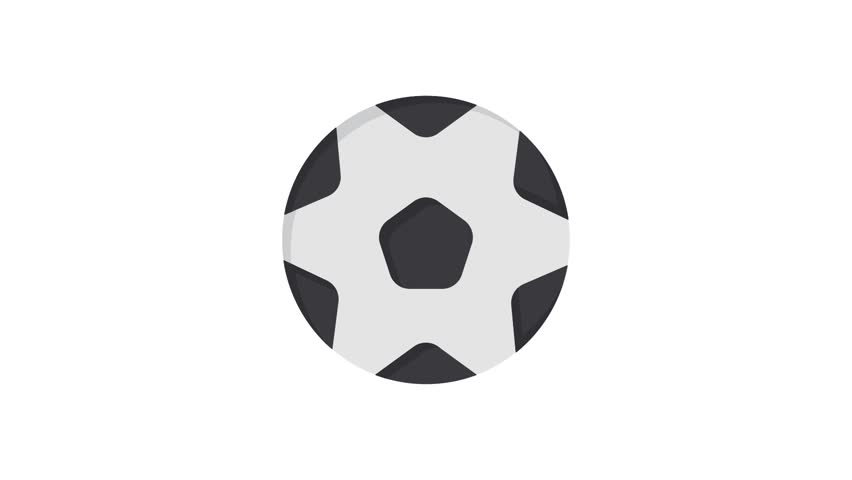 Football, Ball, Sports Line Icon Motion Graphic Animation | Shutterstock HD Video #1024089167