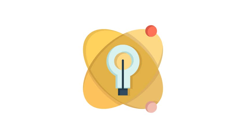 Atom, Education, Nuclear Line Icon Motion Graphic Animation | Shutterstock HD Video #1024091117