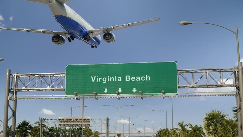 Airplane Landing Virginia Beach