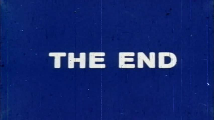 The End - damaged vintage film ending title, white letters, blue screen | Shutterstock HD Video #1024103657