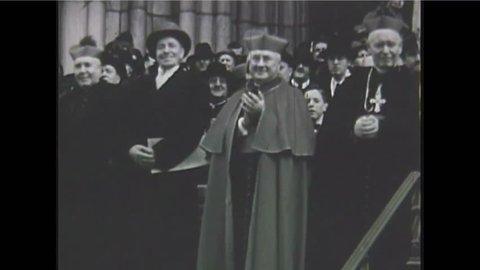 CIRCA 1930 - St. Patrick's Day in New York City in 1940.