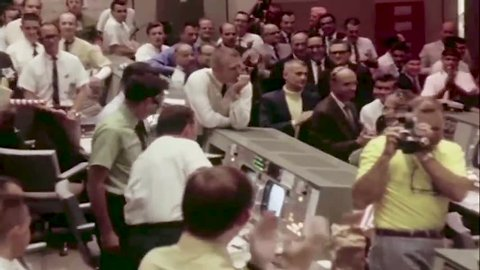 United States of America, July 24, 1969. The  celebrations for the success of the mission Apollo 11