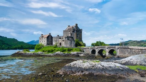 Most famous castle in Scotland: Eilean Donan Castle in the highlands of Scotland, UK