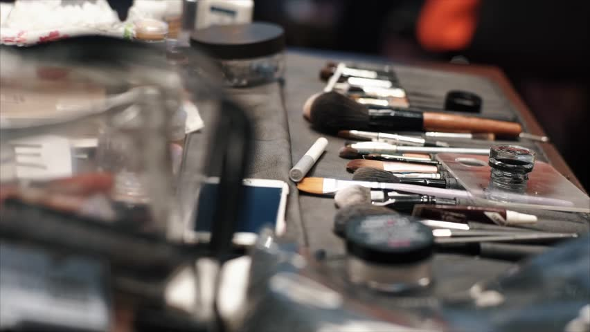 Professional makeup brushes and tools | Shutterstock HD Video #1024476287