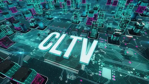 CLTV with digital technology concept