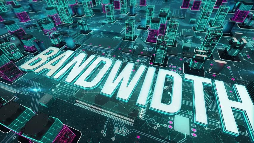 Bandwidth with digital technology concept | Shutterstock HD Video #1024621457
