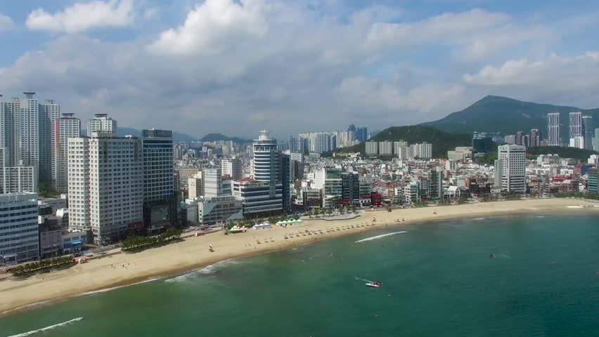 Aerial View of Summer Gwangalli, Busan, South Korea, Asia | Shutterstock HD Video #1024747847