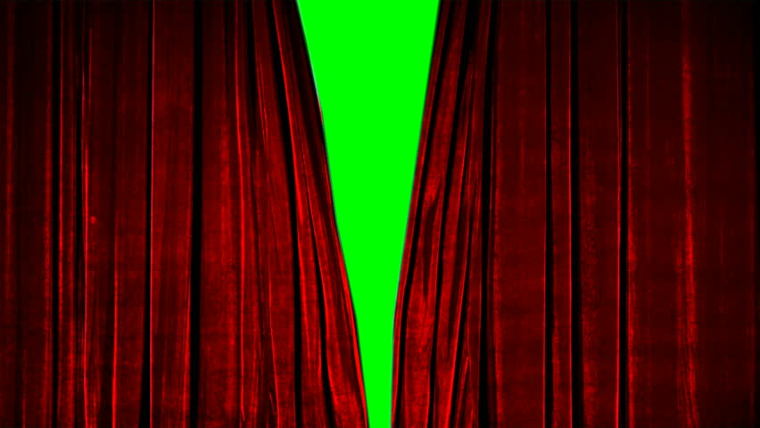 Real Velvet Cloth Stage silk red Curtain open on green screen. Curtain For theater, opera, show, stage scenes. This opening curtain are shooted on Red Camera - slow motion. Real Cinematic Curtain. | Shutterstock HD Video #1024846637