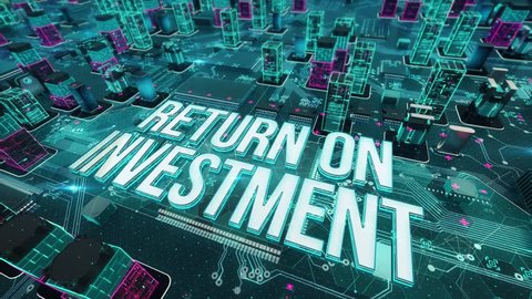 Return on Investment with digital technology concept