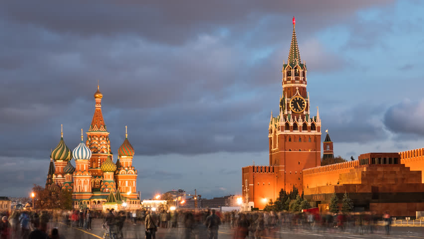 Day to night hyper lapse of Red Square, Kremlin and Saint Basil's Cathedral, Moscow, Russia. | Shutterstock HD Video #1025099537