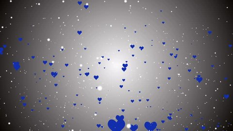 Abstract Hearts particles Valentine's Day elegant backdrop motion graphic background vj.