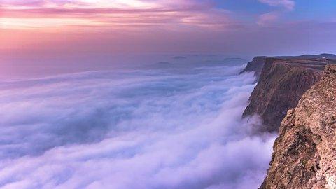 Sea of Clouds Famara Lanzarote 4K Time Lapse
