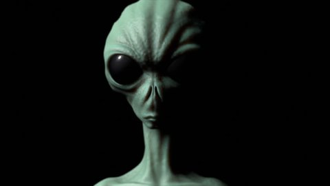 Alien realistic animation, extraterrestrial