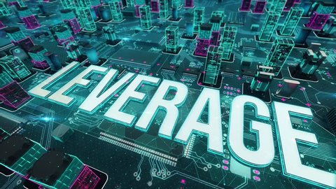 Leverage with digital technology concept