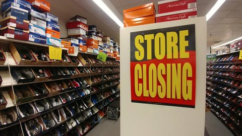 Davenport, Iowa - March 8, 2019, Store Closing Sign - Payless Shoes
