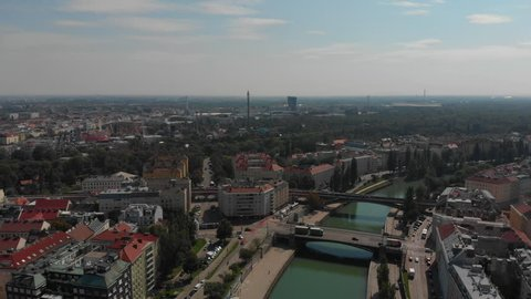 Aerial Austria Vienna June 2018 Sunny Day Mavic Air  Aerial Video of Vienna Austria city center on a sunny day.