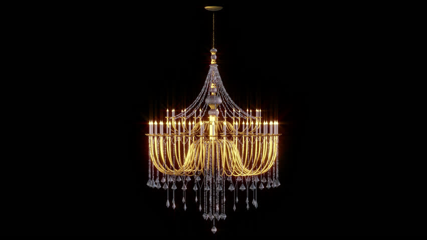 Chandelier looped animation with Alpha channel | Shutterstock HD Video #1025579987