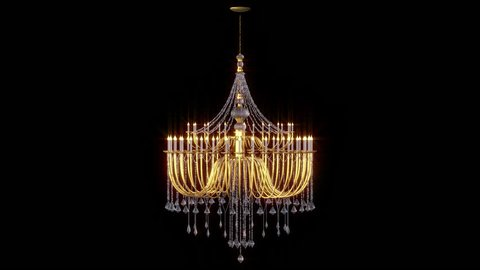 Excellent Chandelier Looped Animation With Alpha Channel Spiritservingveterans Wood Chair Design Ideas Spiritservingveteransorg