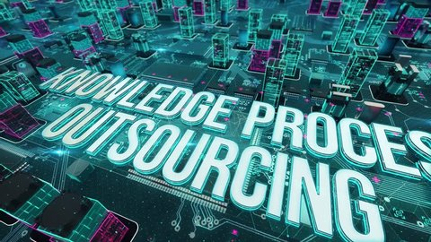 Knowledge Process Outsourcing with digital technology concept