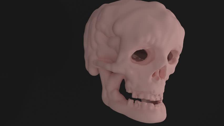 Creepy skull CGI | Shutterstock HD Video #1025712407