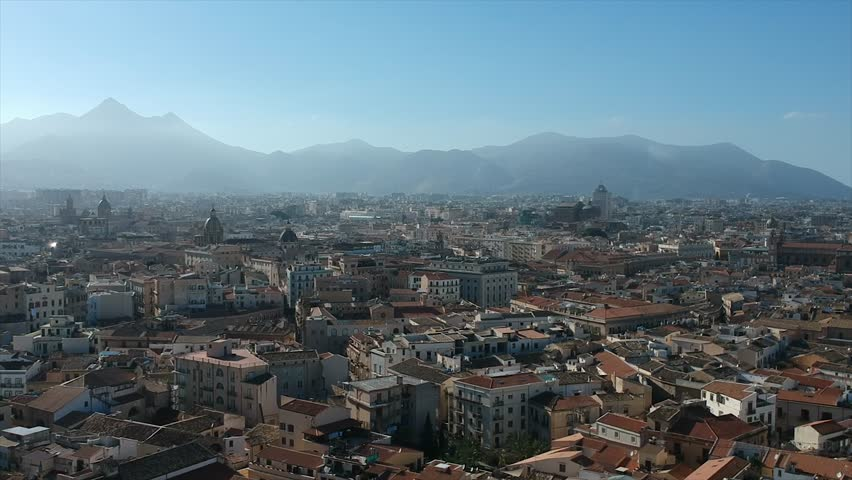 Aerial view of Palermo, Sicily, Italy | Shutterstock HD Video #1025974727