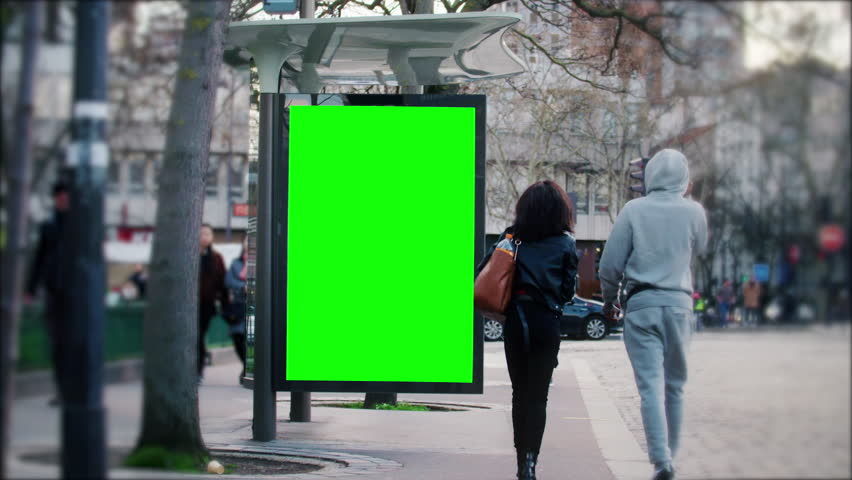 Street bilboard advert - green key | Shutterstock HD Video #1026049967