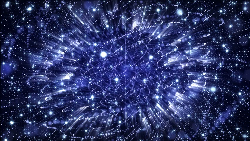 4K Abstract motion background animation shining particles stars sparks and magic dust forming in space twisted rotating regular pattern with light rays and projections seamless loop   Shutterstock HD Video #1026112877