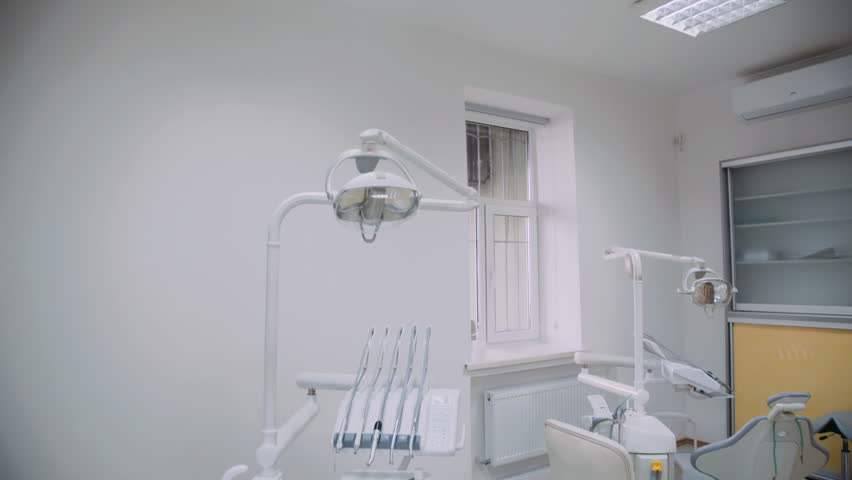 View of modern dental cabinet with newest equipment. 4K | Shutterstock HD Video #1026114287