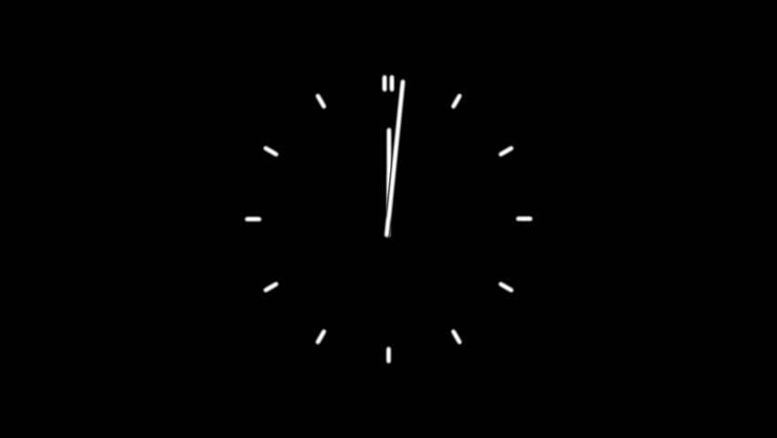 Clock time lapse full HD (1920x1080 24s 30Fps) #10263407