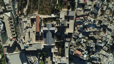 """Bethlehem - """"House of Bread"""" initially named after Canaanite fertility god Lehem is a Palestinian city located in the central West Bank, Palestine, about 10 km south of Jerusalem."""