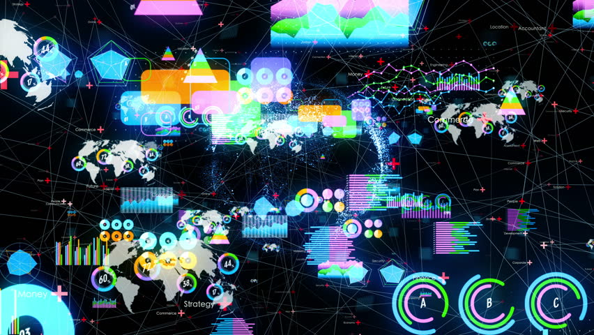Statistics and network concept. Business strategy. | Shutterstock HD Video #1026483197