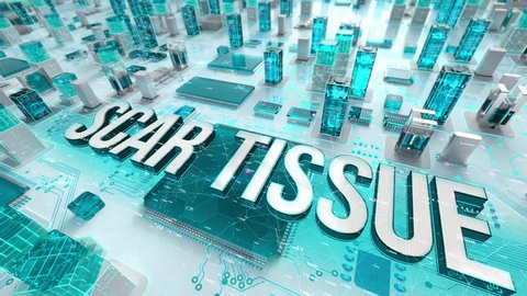 Scar Tissue with medical digital technology concept