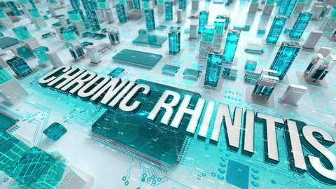 Chronic Rhinitis with medical digital technology concept