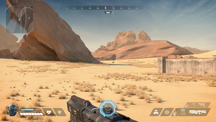 Fake Sci-Fi First Person Shooter. 3D Game