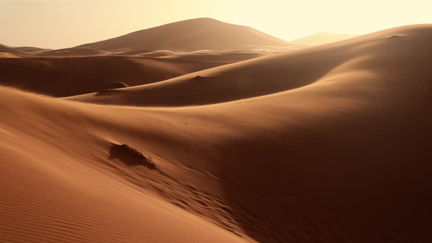 Beautiful Desert scenery during golden hour in the Sahara. Travel and exploring concept. | Shutterstock HD Video #1026985247