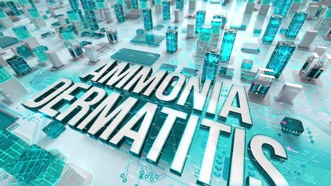 Ammonia Dermatitis with medical digital technology concept