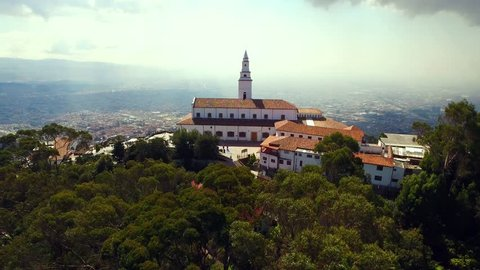 Monserrate, Impressive church on the mountain overlooking the city of Bogota