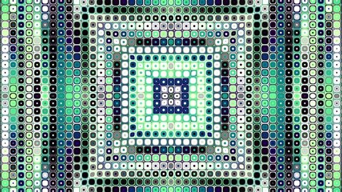Transforming from squares to circles. Abstract geometric background. Looping footage.