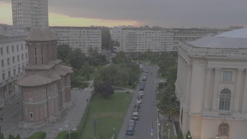 Bucharest drone footage.   Shutterstock HD Video #1027409597