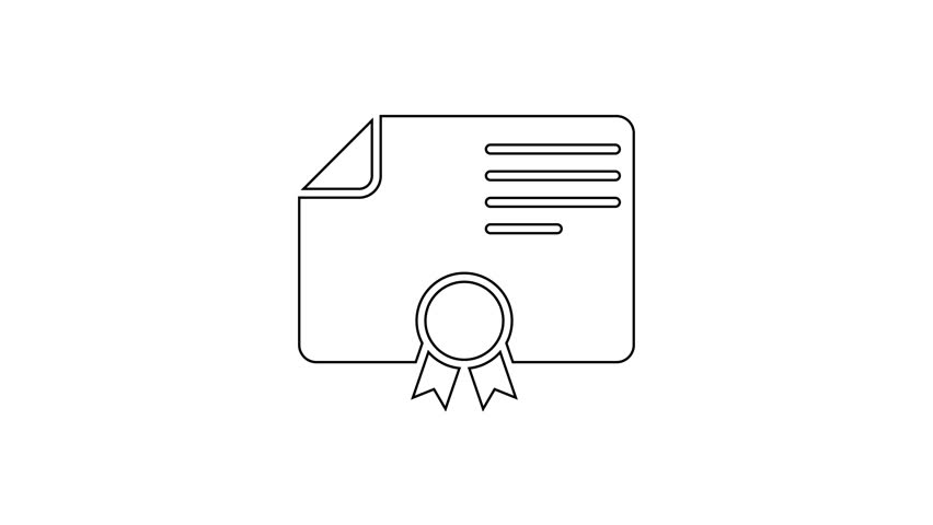 Grey Certificate Template Line Icon Stock Footage Video (100% Royalty-free)  1027554377 | Shutterstock