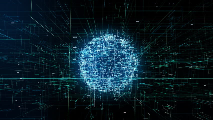 Digital world, abstract 3D rendering of technology, global data network, connectivity data flood in modern digital age | Shutterstock HD Video #1027737557