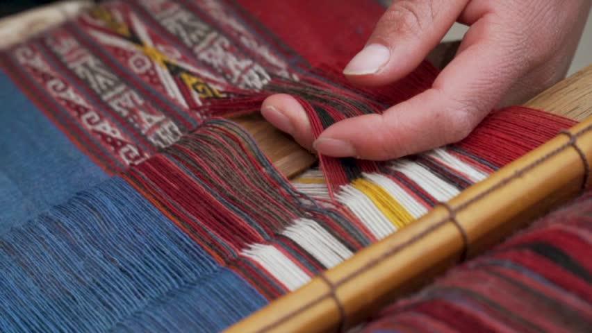 Weaving Alpaca Yarn  | Shutterstock HD Video #1027768007