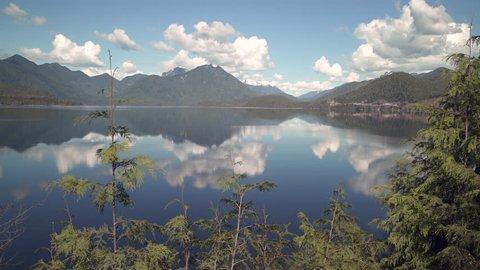 Kennedy Lake Vancouver Island 4K UHD. Reflections on Kennedy Lake, Vancouver Island 4K UHD