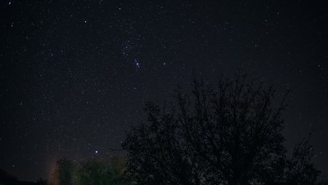 Time lapse of stars in Northern California.