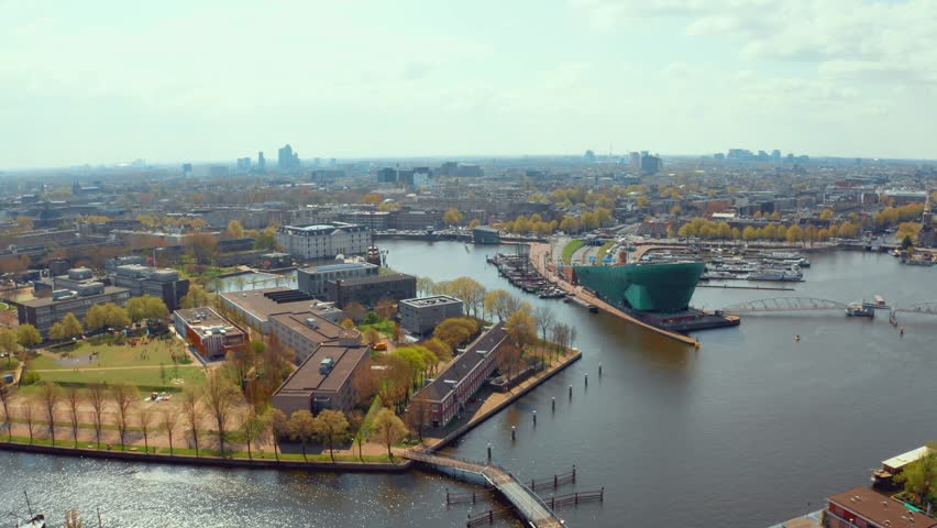 Amazing aerial view over Amsterdam.  | Shutterstock HD Video #1028289497