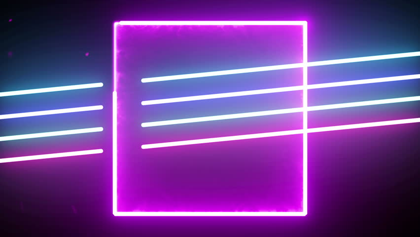 Futuristic 4k neon light abstract seamless background blue purple spectrum looped animation fluorescent ultraviolet light glowing neon line Abstract background web neon box circle pattern 4k screens | Shutterstock HD Video #1028303957