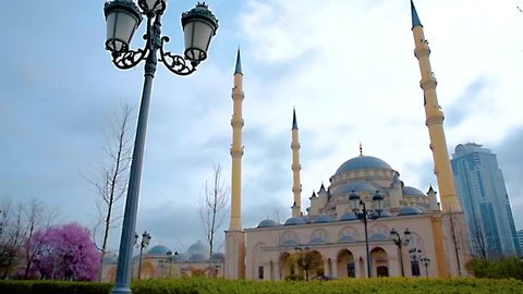 The mosque Heart of Chechnya in Grozny