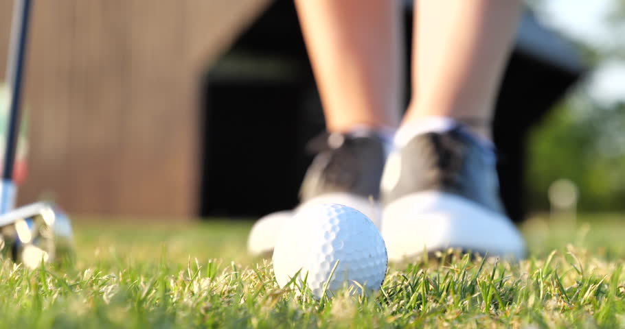 Golf Concept Golf Ball in Grass Ready to Shooting  | Shutterstock HD Video #1028737157
