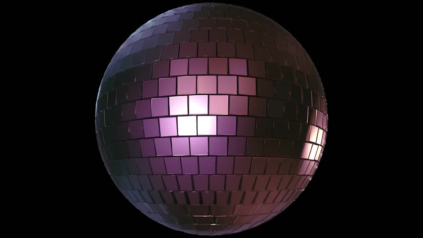 Light music disco ball animation on black background. Render disco ball in nightclub with shiny effects | Shutterstock HD Video #1028801507