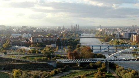 Zaragoza city hyperlapse zaragoza city hyperlapse